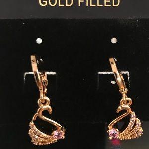 Swan 18k Gold Plated earring